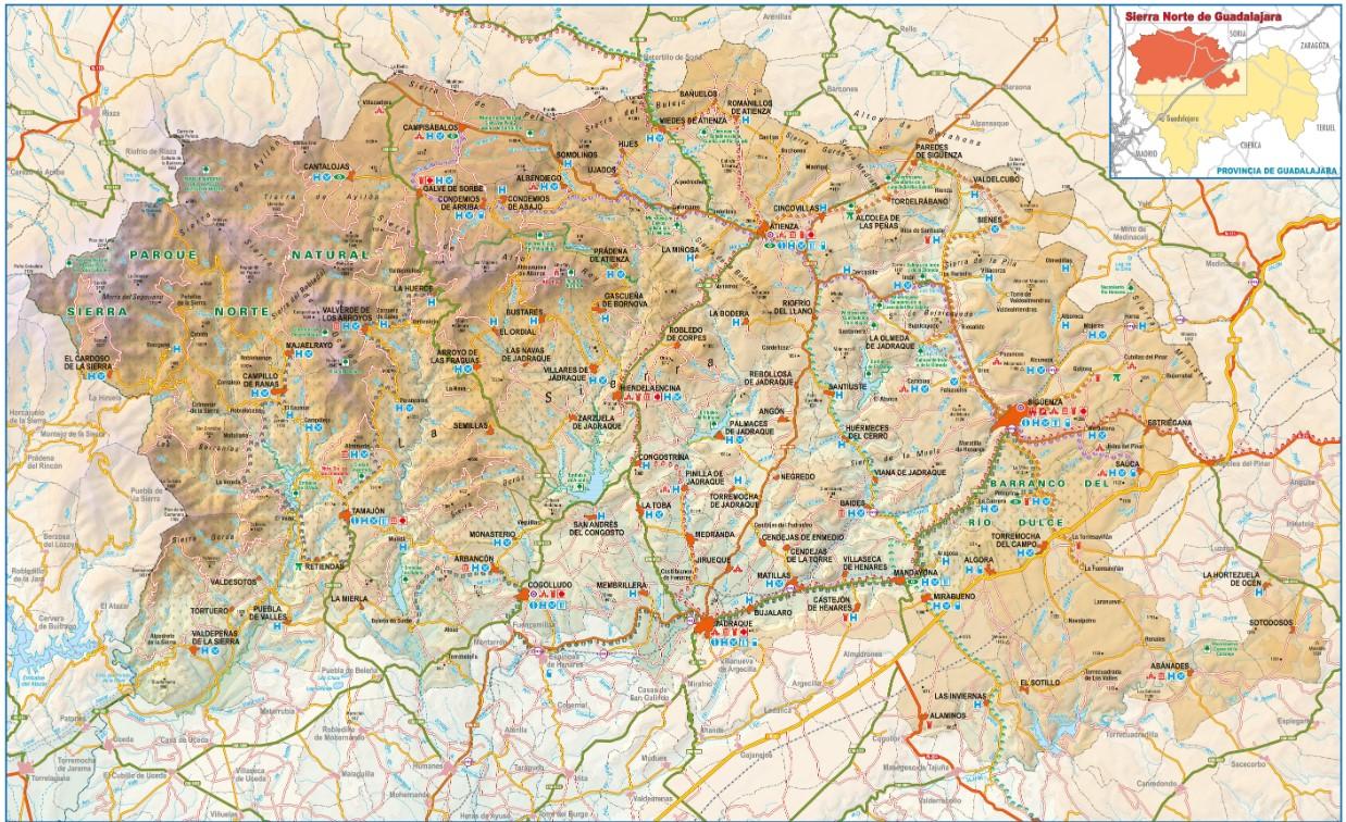 Mapa ADEL la Sierra Norte