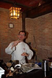 Enrique Perez en el curso micogastronomía